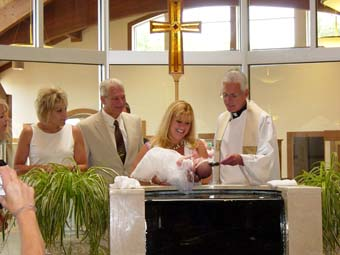 Celebrate the Sacrament of Baptism, from infant to adult, become a part of our Christian Community.